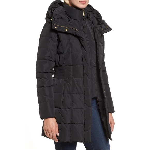 Cole Haan Signature Black Puffer Down Jacket